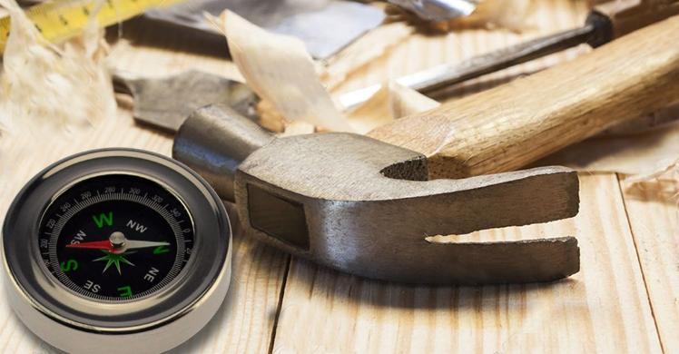 O carpinteiro que usava o martelo como bússola